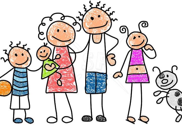 Resultat d'imatges de familia feliz dibujo