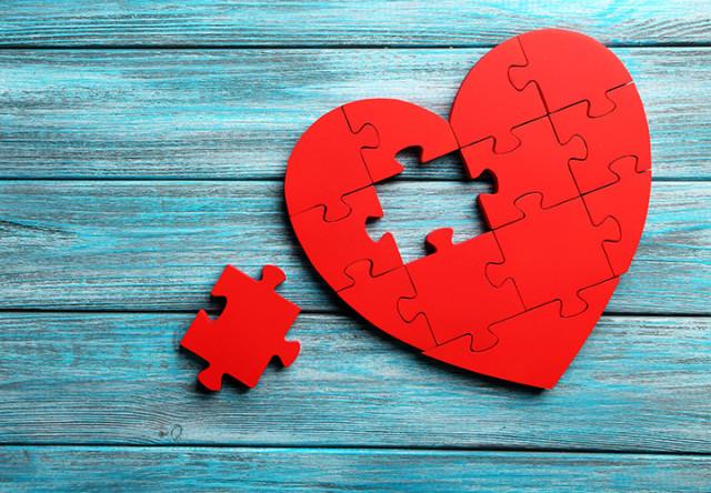 rompecabezas corazon, compatibilidad
