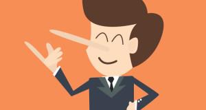 ilustracion persona falsa, ilustracion hombre mentiroso