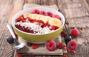 desayunos en bowl, bowl de frutas