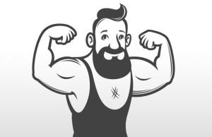 ilustracion de hombre fuerte