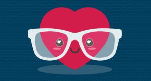 ilustracion corazon con lentes