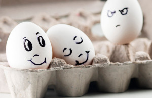 Huevos con caritas