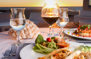 vino y comida mexicana