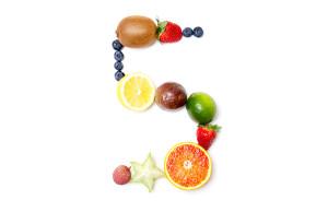 numero en fruta