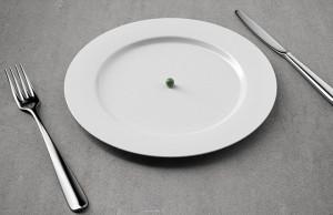 plato con un chicharo