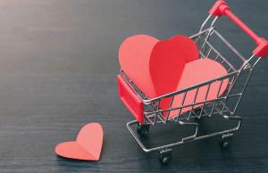 carrito con corazones