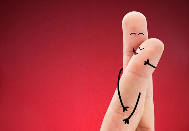 personas de dedos