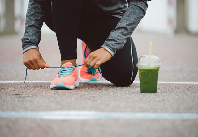 jugo verde en el ejercicio
